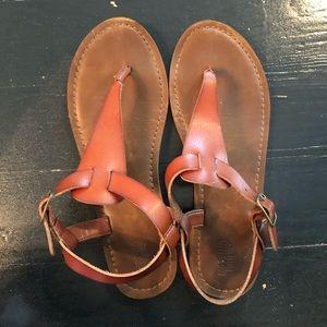 Tan T-Strap Sandal